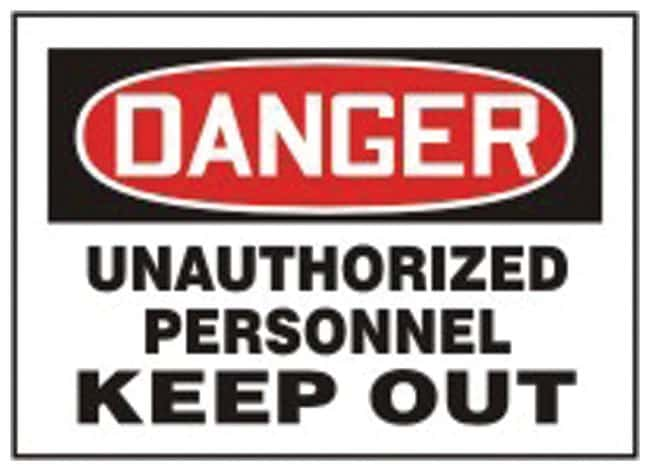 Accuform Signs Danger: Unauthorized Personnel Keep Out Sign Aluminum; Size: