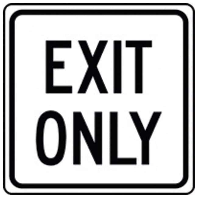 Accuform Signs Exit Only Sign Reflective aluminum; 18 x 18 in.:Gloves,