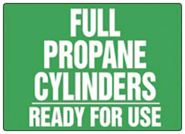 Accuform Signs Full Propane Cylinders Ready For Use Aluminum material;