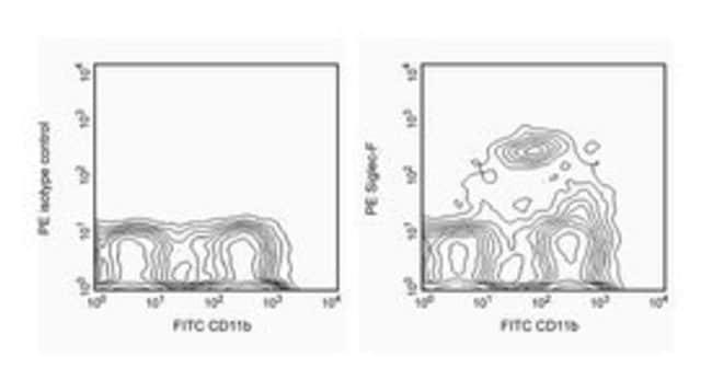 Siglec-F Rat anti-Mouse, PE, Clone: E50-2440, BD 25μg; PE Siglec-F Rat anti-Mouse, PE, Clone: E50-2440, BD