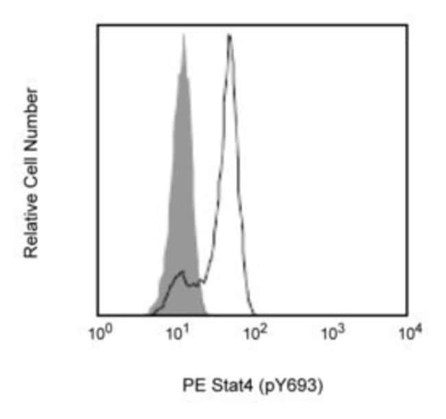 Stat4 (pY693) Mouse, PE, Clone: 38/P-STAT4, BD 50 Tests; PE Stat4 (pY693) Mouse, PE, Clone: 38/P-STAT4, BD