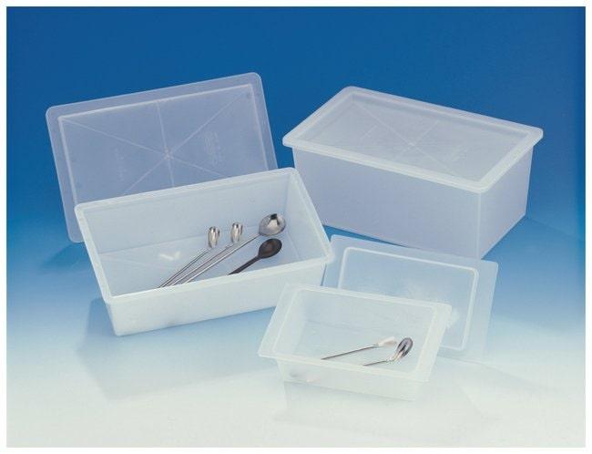 Bel-Art Polypropylene Sterilizing Trays with Cover  Inside dimension: 6-5/8