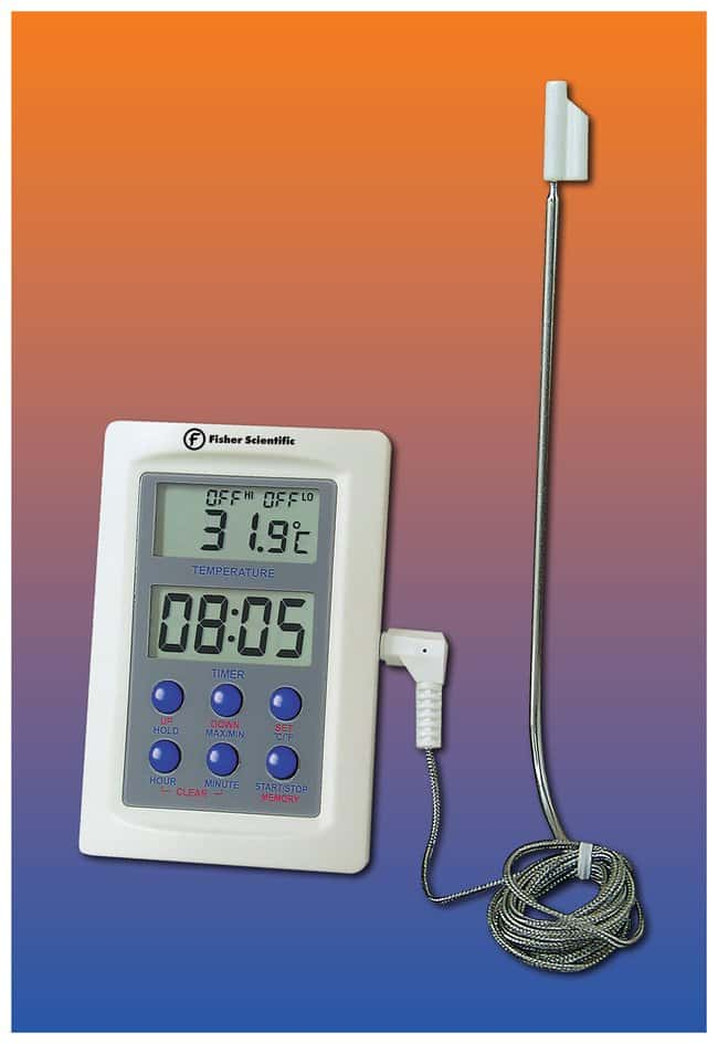 Fisherbrand™ Compact Thermometer with Probe Compact Thermometer with Probe; Range; -50° to +300°C (-58° to +572°F) Classroom Thermometers