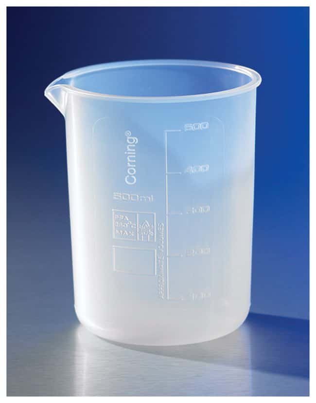Corning™ Reusable PFA Low-Form Beakers 500 mL Corning™ Reusable PFA Low-Form Beakers