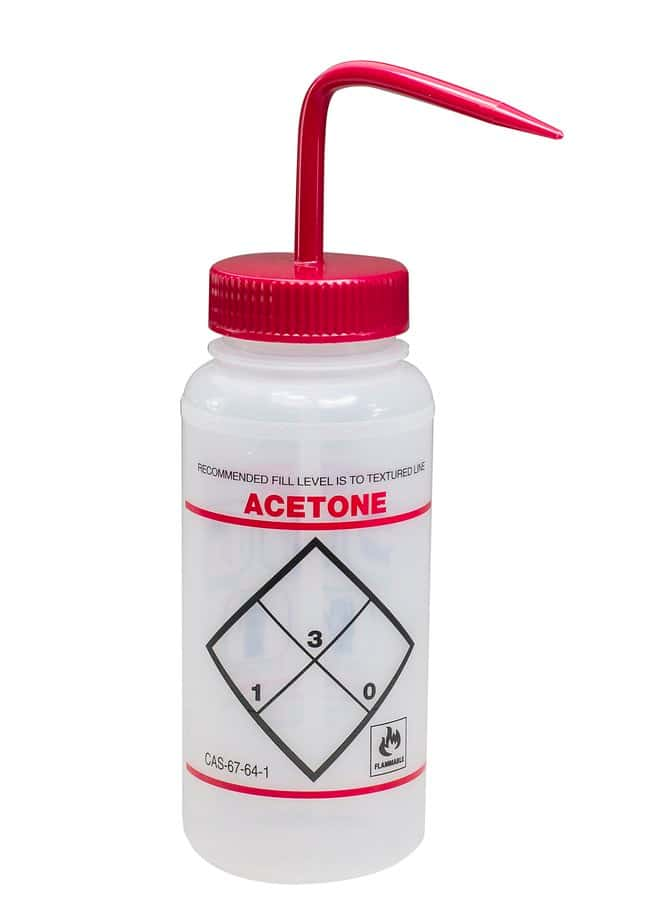 Fisherbrand™ Safety-Labeled Wash Bottles Acetone; 500mL Fisherbrand™ Safety-Labeled Wash Bottles