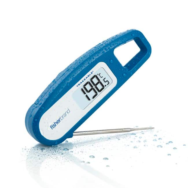 Fisherbrand Traceable Rapid-Response Folding Stainless Steel Thermometer:Workspace