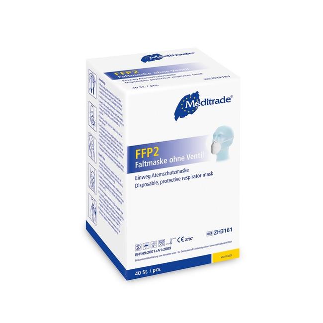 FFP2 Disposable Respirator Face Mask Non-valved; Head Straps Air Purifying Respirators Disposable