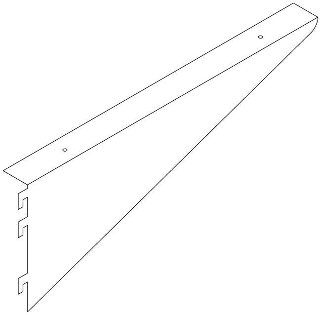 Fisherbrand Undermount Shelf Bracket 12 in.Deep, Right Bracket:Furniture,