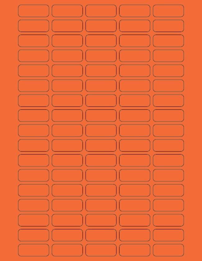 Fisherbrand Square Labels 27 x 1.25 in. (0.64 x 3.17cm); Orange; 85 labels/sheet:Gloves,