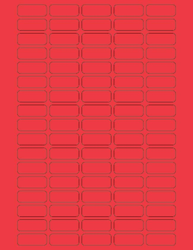 Fisherbrand Square Labels 28 x 1.25 in. (0.64 x 3.17cm); Red; 85 labels/sheet:Gloves,