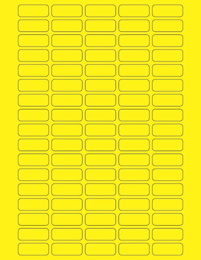 Fisherbrand Square Labels 29 x 1.25 in. (0.64 x 3.17cm); Yellow; 85 labels/sheet:Gloves,