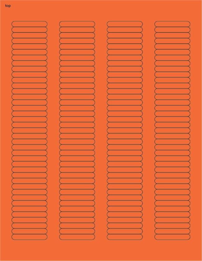 Fisherbrand Square Labels .25 x 1.5 in. (0.64 x 3.81cm); Orange; 156 labels/sheet:Gloves,