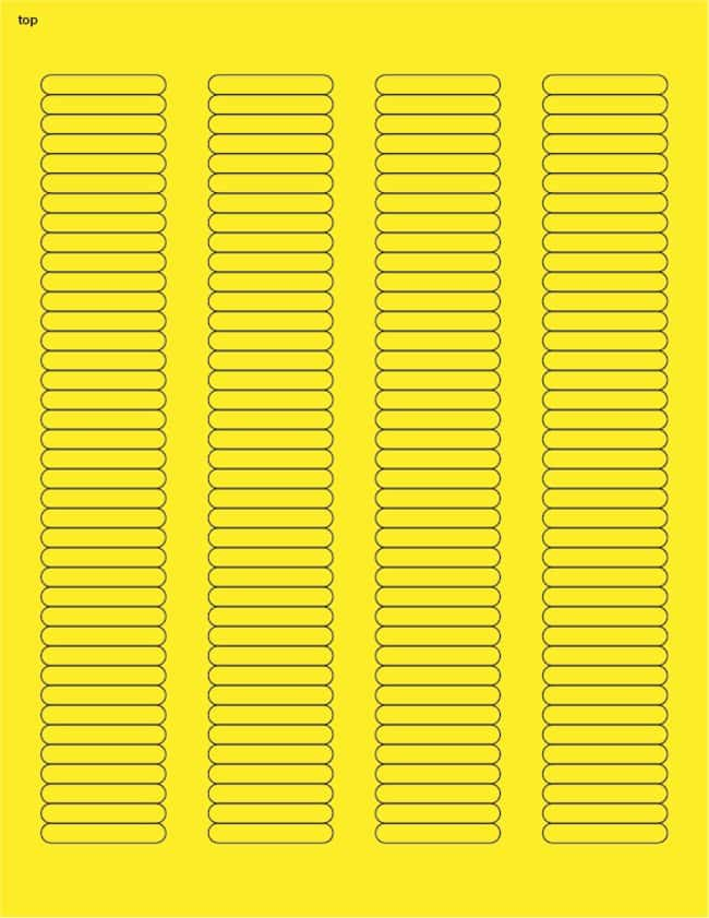 FisherbrandSquare Labels .25 x 1.5 in. (0.64 x 3.81cm); Yellow; 156 labels/sheet:Gloves,