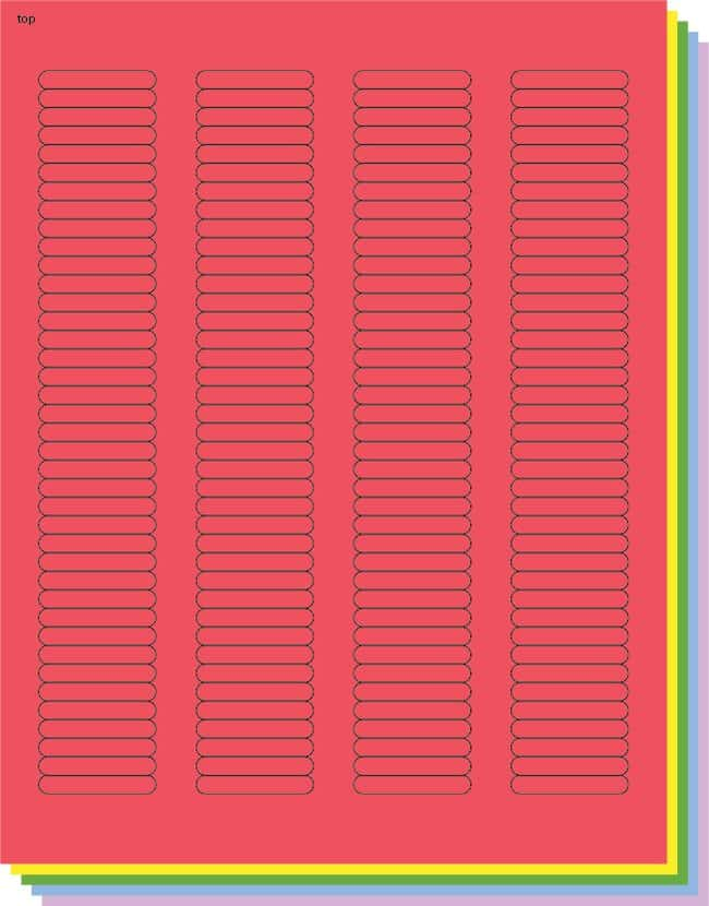 Fisherbrand Square Labels .25 x 1.5 in. (0.64 x 3.81cm); Assorted; 156