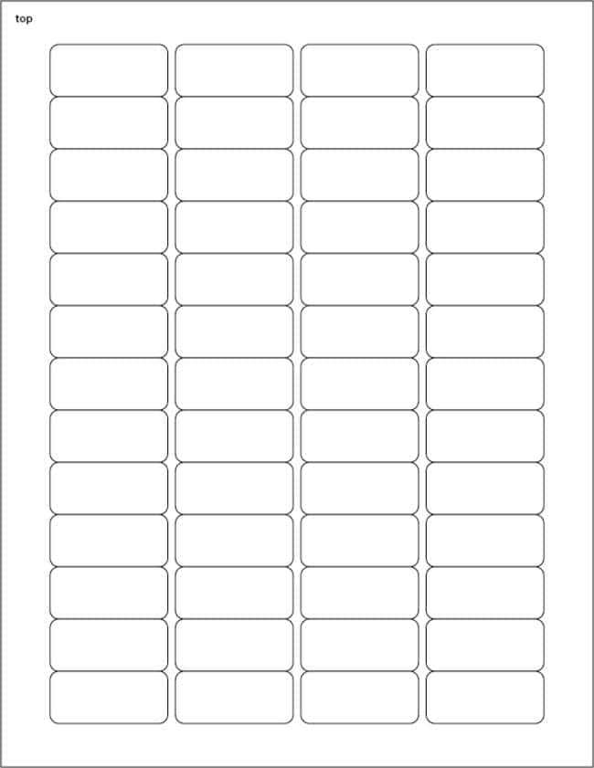 FisherbrandSquare Labels .75 x 1.69 in. (1.91 x 4.29cm); White; 52 labels/sheet:Facility