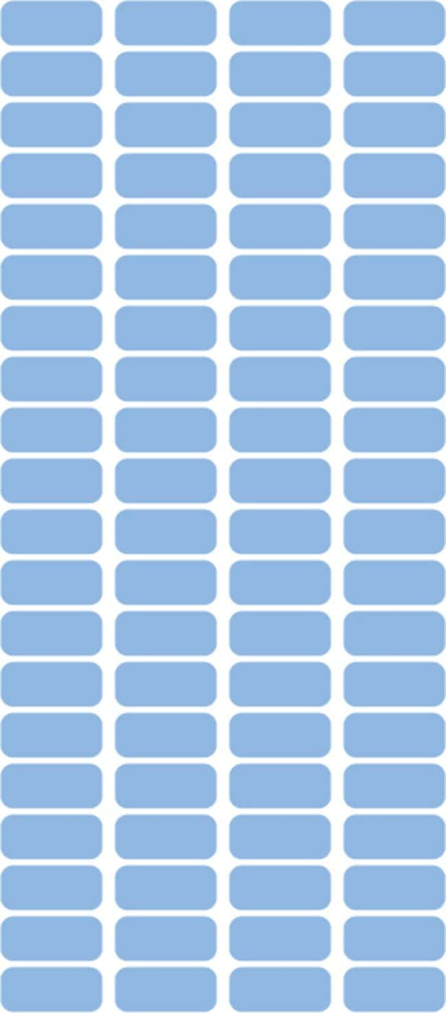 Fisherbrand Square Labels 0.4375 x 1 in. (1.11 x 2.54cm); Blue; 1000/Roll:Gloves,
