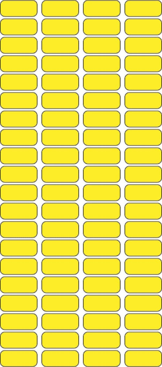 Fisherbrand Square Labels 0.4375 x 1 in. (1.11 x 2.54cm); Yellow; 1000/Roll:Gloves,