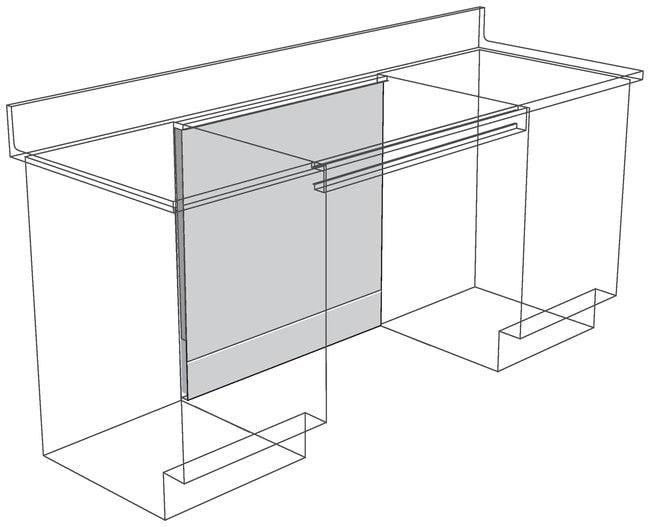 FisherbrandKnee Space Panels for Apron Rails ADA Height, Adjustable 12