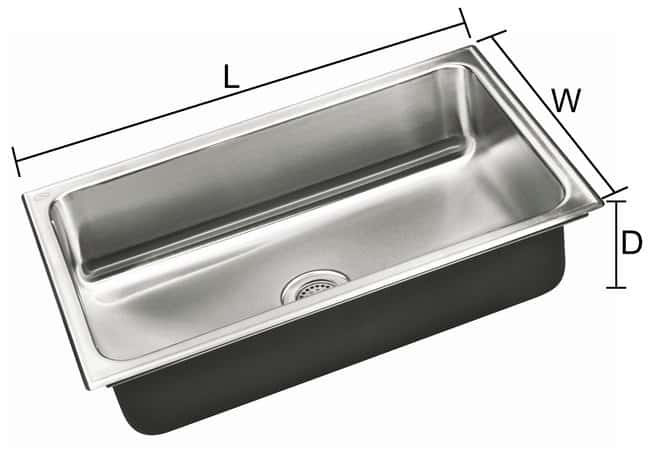 Fisherbrand Stainless Steel Undermount Sink 22 in.Wide, 16 in.Long, 10.5