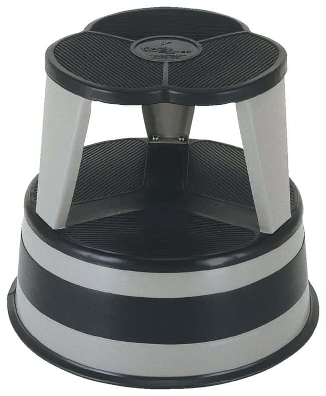 Kik Step Stool Two Steps Retractable Casters 14 5 X 15 5