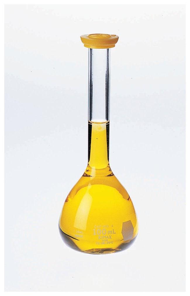 Kimble KIMAX Volumetric Flasks with Polyethylene Snap Caps  :Teaching Supplies:Classroom