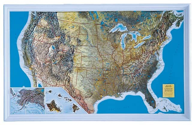 American Educational Products United States Relief Map United States ...
