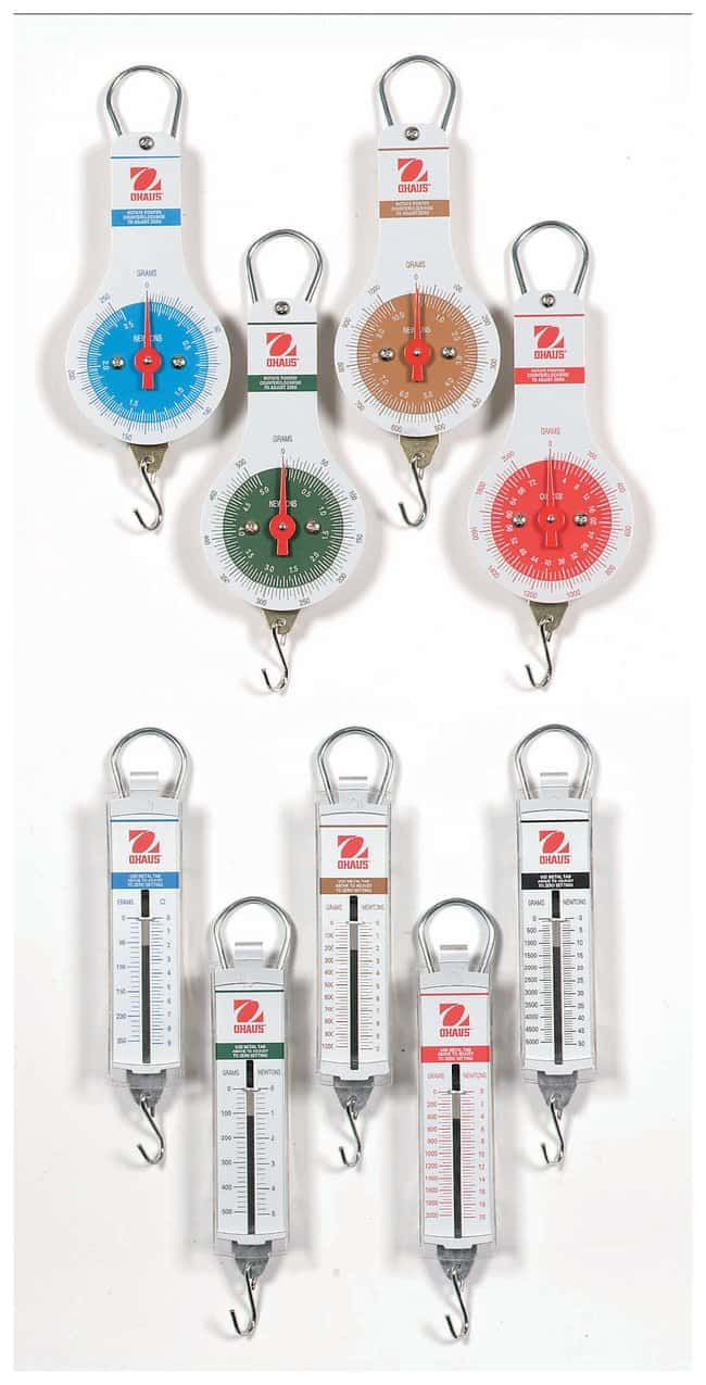 OHAUS Spring Scales: Pull Type  Capacity: 2000 x 50g:Teaching Supplies