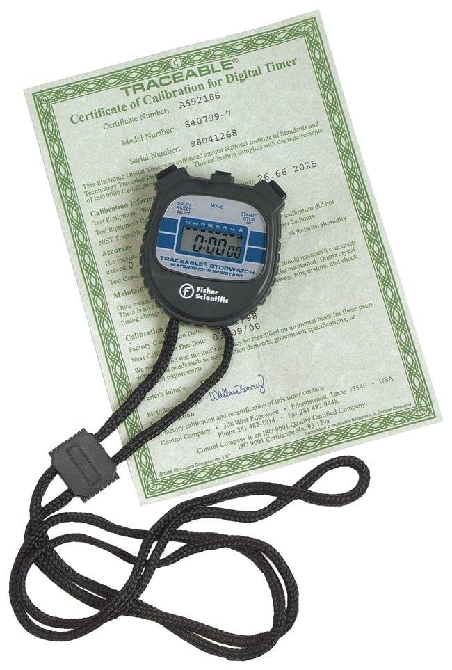 Fisherbrand™Cronómetro resistente al agua y a prueba de golpes Water and shock-resistant stopwatch Classroom Timing