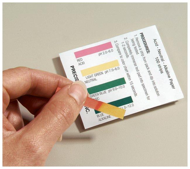 Acid Neutral Alkaline Paper Single Strip Four Color Comparison Chart