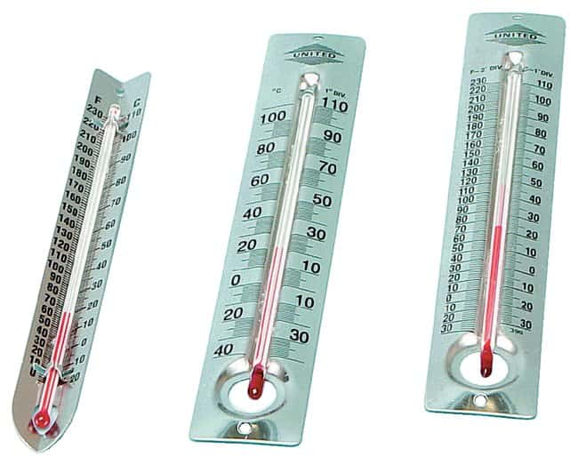 United Scientific Supplies Metal-Back Thermometers
