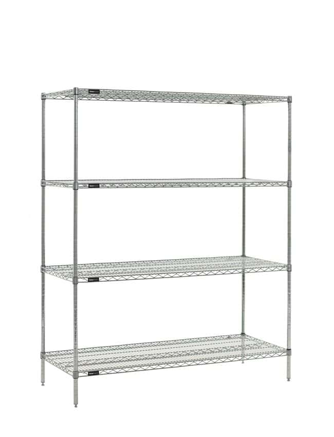 Fisherbrand 4-Shelf Stationary Wire Shelving Unit:Furniture, Storage, Casework,