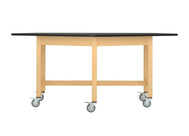 Diversified Woodcrafts Forward Vision Mobile Table  Solid Oak legs and