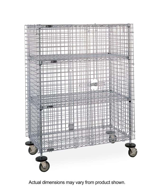 Fisherbrand™ Mobile Wire Shelving Security Unit with 2 Intermediate Shelves