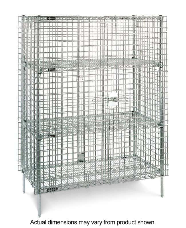 Fisherbrand Stationary Wire Shelving Security Unit with 2 Intermediate