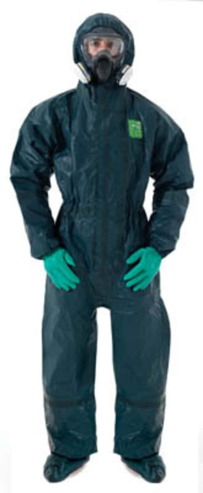 Ansell Edmont™ Microchem™ 4000 Coveralls with Hood and Integrated Socks Small Ansell Edmont™ Microchem™ 4000 Coveralls with Hood and Integrated Socks