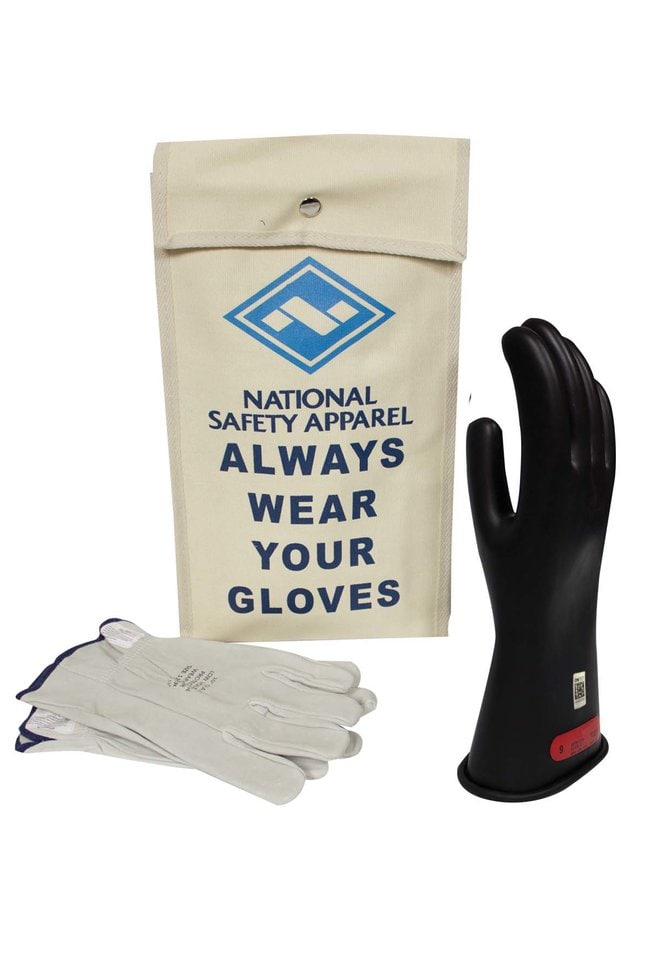 National Safety Apparel Class 0 ArcGuard Rubber Voltage Glove Kit::