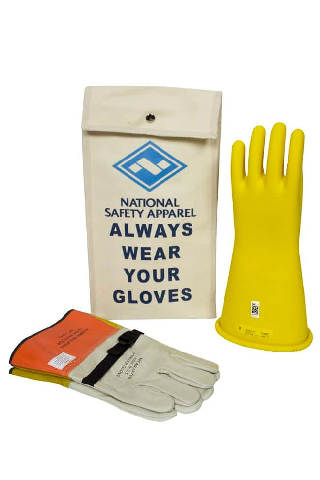 National Safety Apparel Class 2 ArcGuard Rubber Voltage Glove Kit::