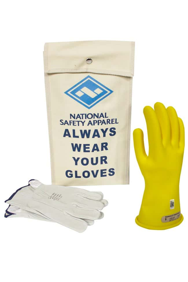 National Safety Apparel Class 00 ArcGuard Rubber Voltage Glove Kit::