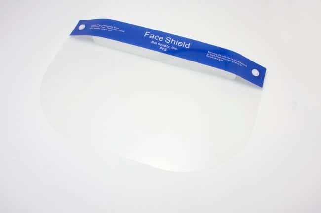 Bal SupplyPlastic Face Shield Plastic; 13 x 9 in.:Personal Protective Equipment