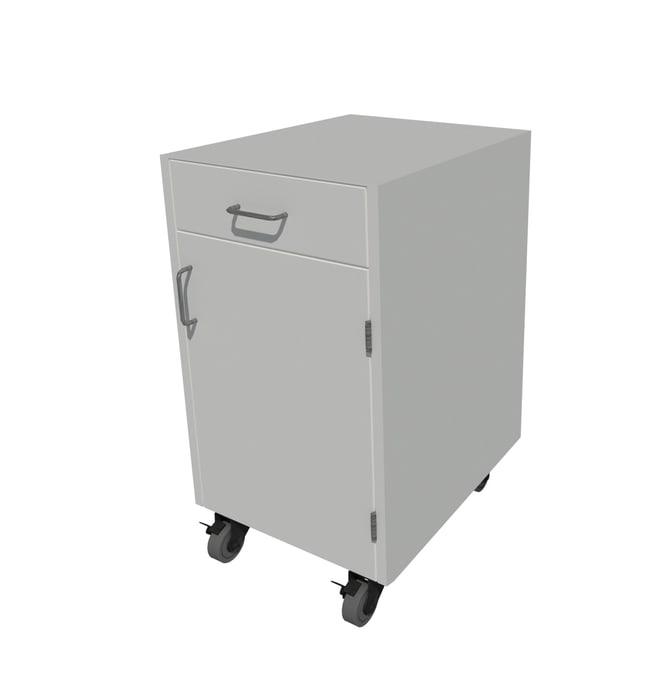 Fisherbrand Steel Mobile Cabinet 1 door 1 drawer, 18in. wide