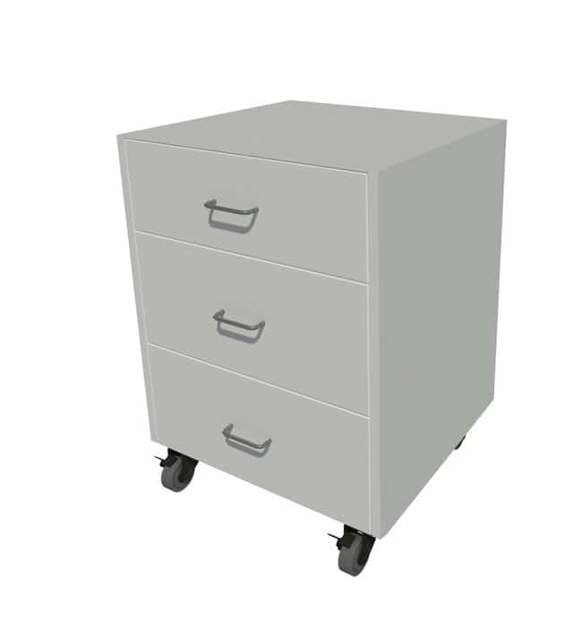 Fisherbrand Steel Mobile Cabinet 3 drawer, 24in. wide