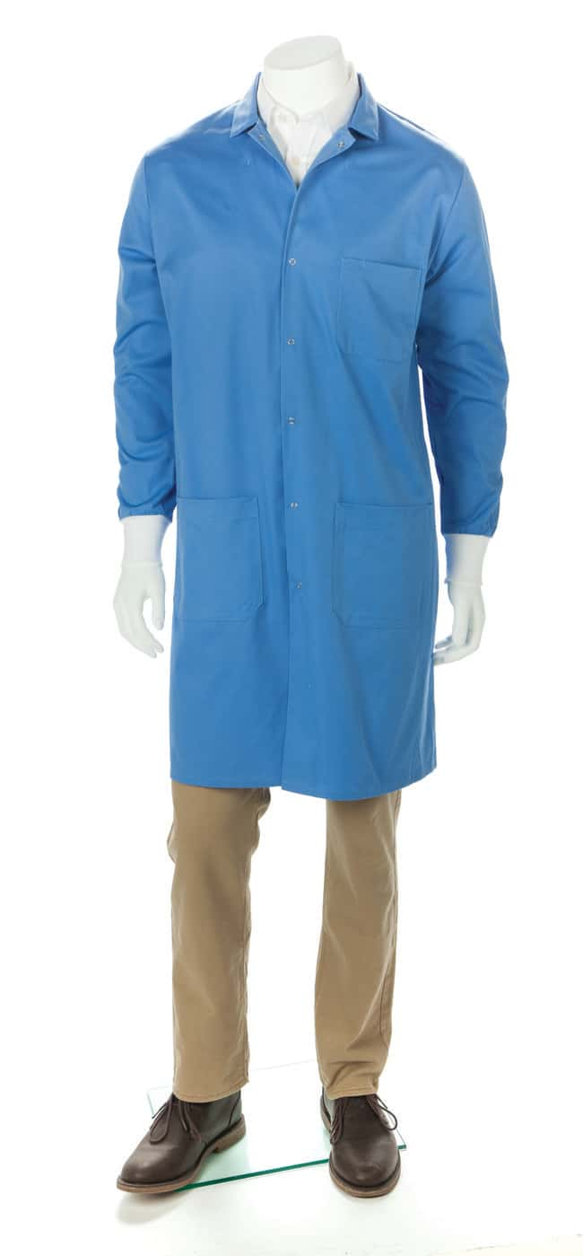 Fisherbrand Unisex Lab Coats with Knit Cuffs Large:Gloves, Glasses and