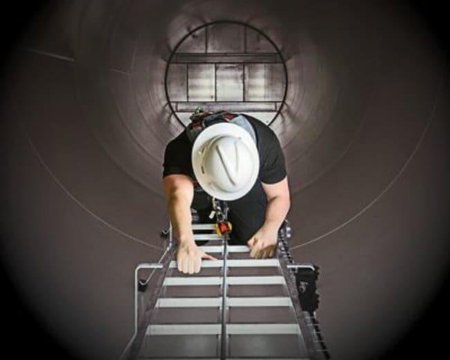 MSA Latchways Vertical Ladder Lifeline Kit Length: 22 m:Gloves, Glasses