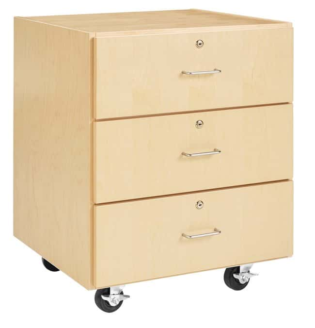 Diversified Woodcrafts M Series Rolling Cabinet   Maple; Layout: 3 drawer;