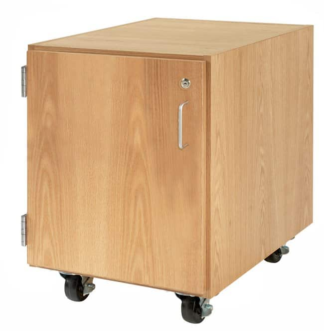 Diversified Woodcrafts M Series Rolling Cabinet   Oak; Layout: One door/Hinged