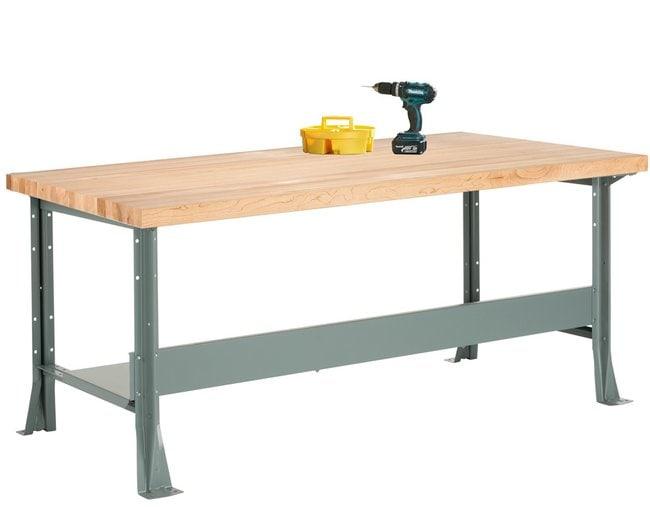 Diversified Woodcrafts Steel Workbench   1.75 in. maple top; D x W x H: