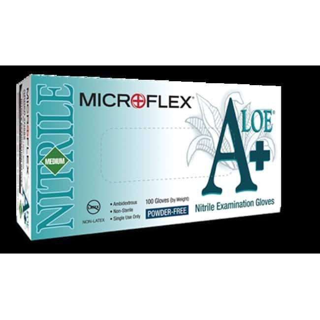 Microflex A+ ALOE Nitrile Exam Gloves X-large:Gloves, Glasses and Safety