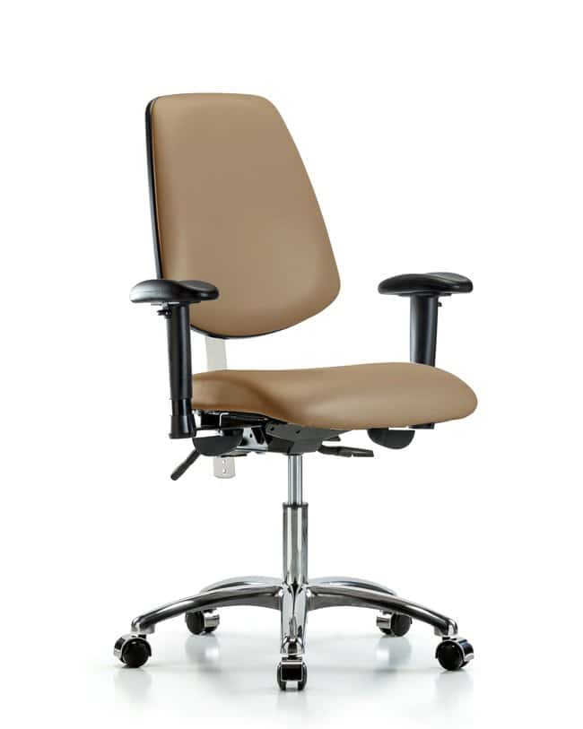 FisherbrandClass 100 Vinyl Clean Room Chair - Desk Height with Medium Back:Furniture:Seating