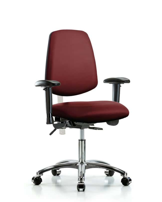 FisherbrandClass 100 Vinyl Clean Room Chair - Desk Height with Medium Back,