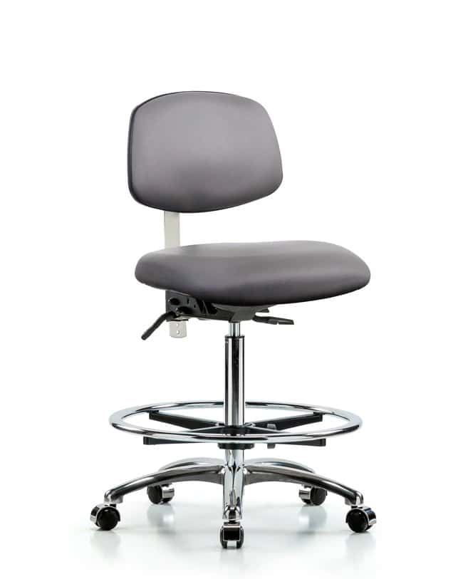 Fisherbrand Class 100 Vinyl Clean Room Chair - High Bench Height with Chrome